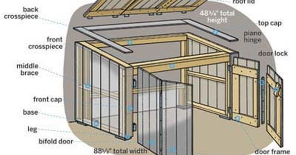 Garbage Can Shed Plans | Overview | How to Build a Trash