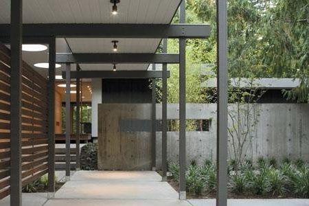 Modern Covered Walkway Design Exterior Contemporary With Outdoor Modern Exterior Covered Walkway Recessed Lighting