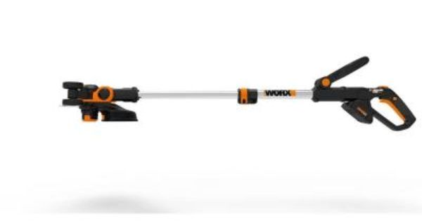 Worx 12 In 20 Volt Max Lithium Ion Cordless Grass Trimmer Edger With 2 Batteries Wg163 The Home Depot