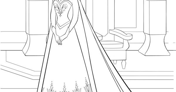 Free Frozen Printables Coloring Pages Elsa Crown Anna