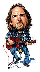 Wall Art Painting Eddie Vedder By Art Eddie Vedder Celebrity Caricatures Pearl Jam