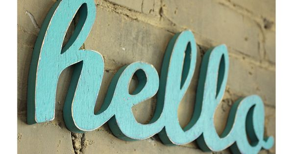 Letras y palabras en madera de colores decoraci n low - Letras home decoracion ...