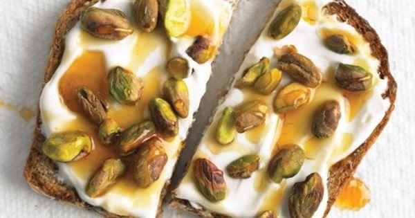 Whole-Grain Toast with Yogurt and Pistachios | Recipe | Toast, Yogurt ...