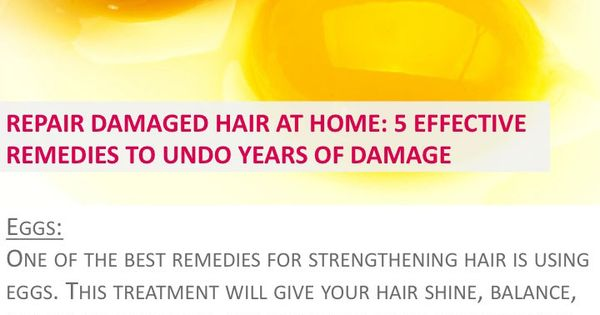 Repair damaged hair at home: 5 effective remedies to undo ...