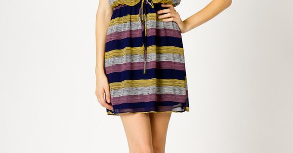 Stripe Dress, cute shoes !!