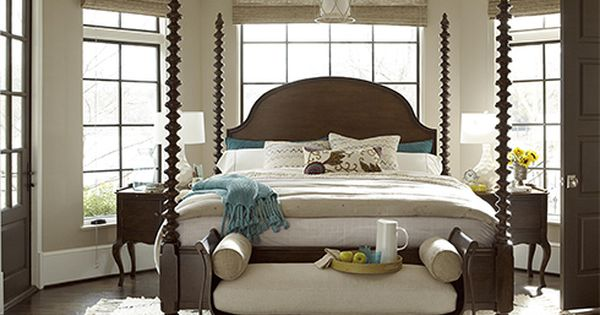 The santa rosa poster bed can be personalized with tall for Short four poster bed