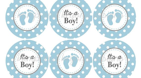 Its A Boy Cupcake Toppers Baby Shower By
