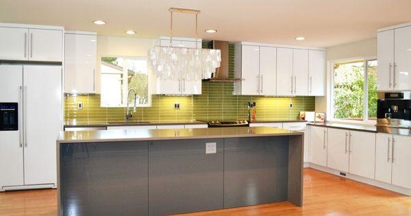 thermofoil lustro gloss acrylic white - 1900 series kitchens