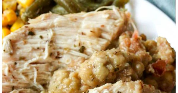 Just set it and forget it ;) This crock pot chicken &