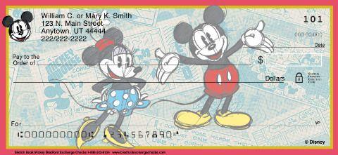 Sketch Book Mickey Personal Checks Bradford Exchange Checks Sketches Books