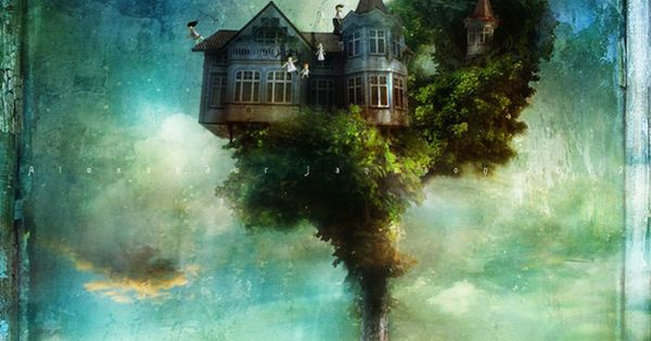 "This painting by Alexander Jansson gives new meaning to ""tree house."""