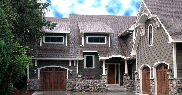 Dark Gray House Color Black Or Bronze Windows House
