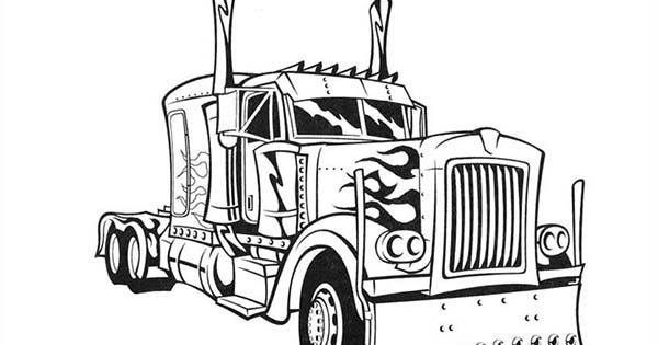 transformers optimus prime semi truck coloring page tylers page pinterest colouring transformers optimus and colouring pages