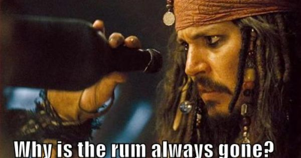 Why Is The Rum Gone Quote: Rum, Caribbean And Jack Sparrow
