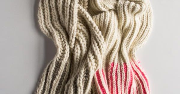 Color Dipped Scarves | Purl Soho | Purl Soho-Knitting ...