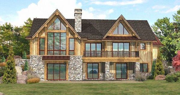 Lakefront Log Homes Cabins And Log Home Floor Plans Lakefront Homes Lake House Plans Log Home Floor Plans