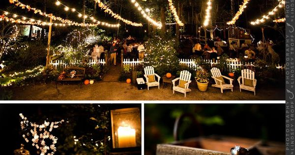 Marry You Me: Real Wedding: Backyard Fall Wedding Wedding Ideas Pinterest Wedding, String ...