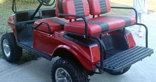 Amazon Com Club Car Pre 2000 Ds Custom 2 Stripe Golf Cart Seat Cover Set Made With Marine Grade Vinyl Stapl Golf Cart Seats Golf Carts Golf Cart Seat Covers