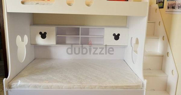 Dubizzle Dubai Childrens Furniture Brandnew Mickey Mouse Style 3 Kids Bunk Bed With Loads Of