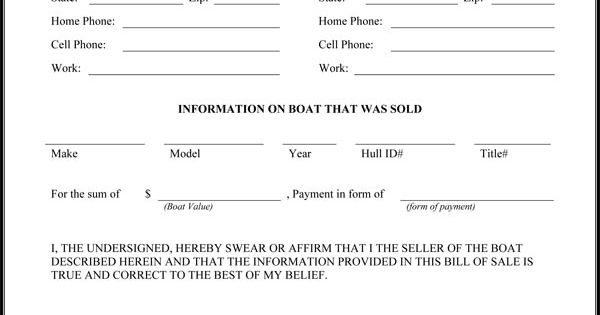 Printable Sample Bill Of Sale Pdf Form | Real Estate Forms ...