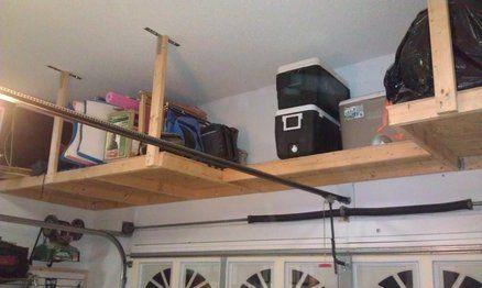 Above Garage Door Storage Overhead Garage Storage Garage