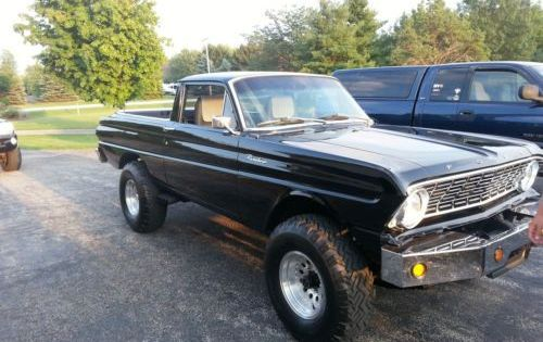Find Used 1964 Ford Ranchero Custom Black 4x4 One Of A Kind Mint All Aluminum Motor In Elgin Illinois United States 1964 Ford Ford 4x4