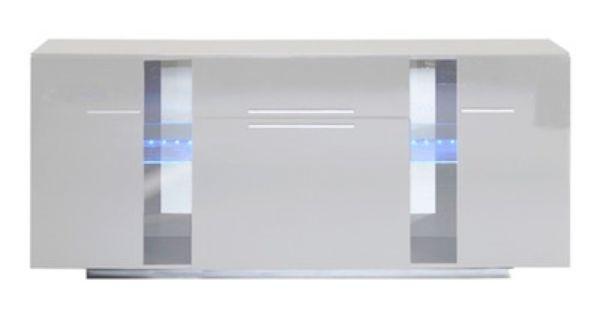 Bahut 3 Portes 1 Tiroir Vertigo Blanc Brillant Salle A Manger Design Tiroir Bahut