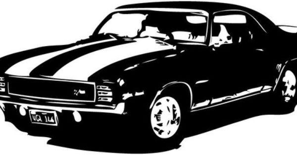 Old School Classic 1969 Camaro Z 28 Muscle Car Vinyl Wall Art Etsy Camaro Z Camaro Car