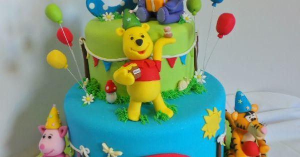 Winnie The Pooh And Friends Birthday Cake. Fondant