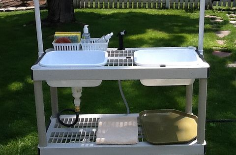 This is awesome! DIY Camp Kitchen w/Working Sink [Tutorial ...