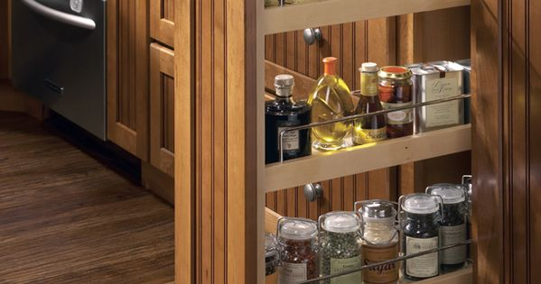 Spruce Up Your Kitchen With These Cabinet Door Styles: Built In Spice Rack Pull Out Cabinet Adjusting Shelves