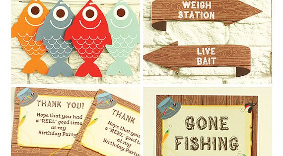 Gone Fishing Party Invitations Amp Decorations Printable