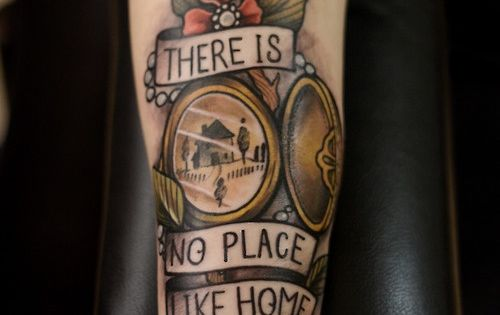 cool home tattoo