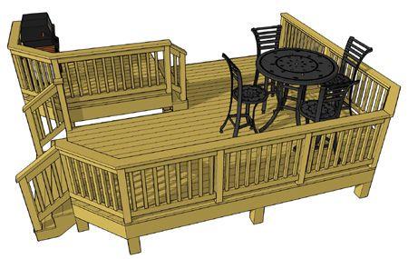 Free Deck Plan 2l051 Deck Plans Diy Diy Deck Deck Design
