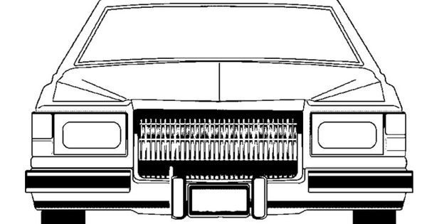 cadillac lowrider classic coloring page