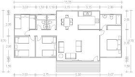 Casa Prefabricada 4 habitaciones, 3 cuartos de baño completo ...
