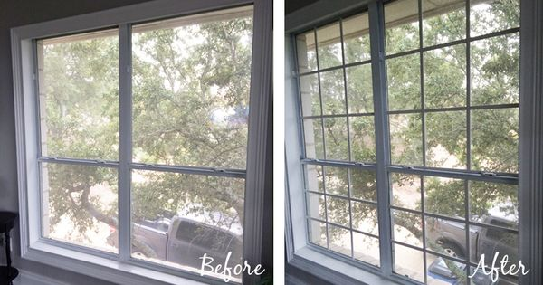 Diy window grids mullions wood trim and house