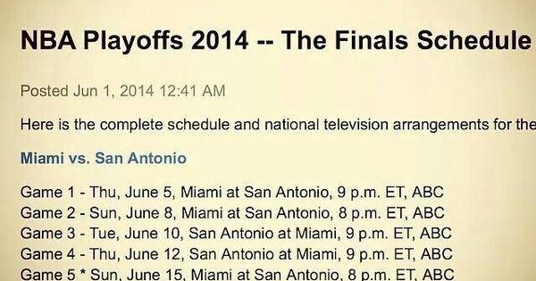 nba finals schedule game 2