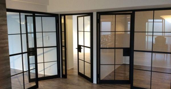アイアンとガラスのドア ガラス引き戸 引き戸 ガラスドア