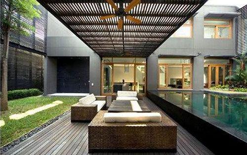 Grote moderne tuin leuke tuin idee n pinterest moderne tuin tuin en interieur - Moderne landschapsarchitectuur ...