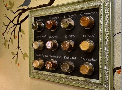 FRAMED :: Framed Magnetic Spice Rack Tutorial ::