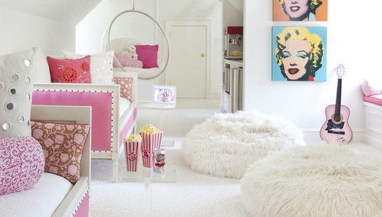 Pink and White Teenage Dream Room