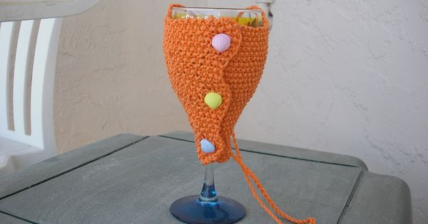 Free Pattern Crochet Wine Glass Holder : Ravelry: Wine Glass Holder pattern by Claudia Olson 327 ...
