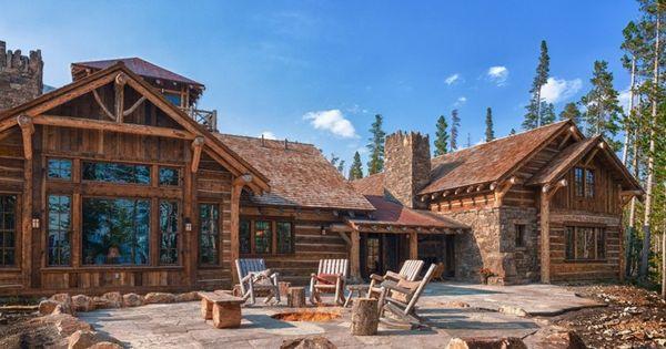 Rustica de madera y piedra casas rusticas pinterest - Casas rurales de madera ...
