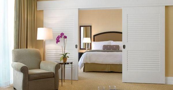 schiebet ren schlafzimmer raumteiler wei holz. Black Bedroom Furniture Sets. Home Design Ideas