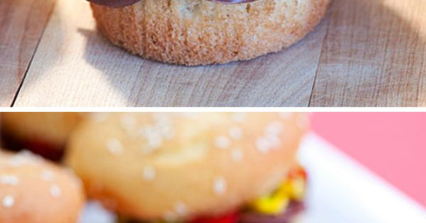Burger Cupcake. haha. cute for a summer bbq or perhaps a 50s