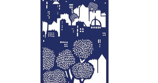 Edinburgh screen print, Emily Hogarth I like the vertical build up of