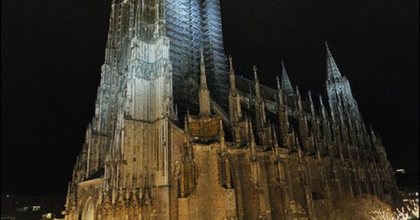 Cologne Cathedral. Built in 1248 in Cologne, Germany. The choir rises to