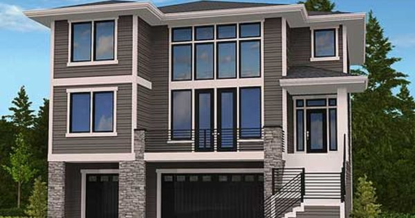 Plan 85102ms Modern House Plan For Front Sloping Lot