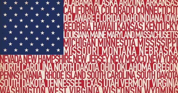 50 States Flag Blaue Bilder Bilder Think